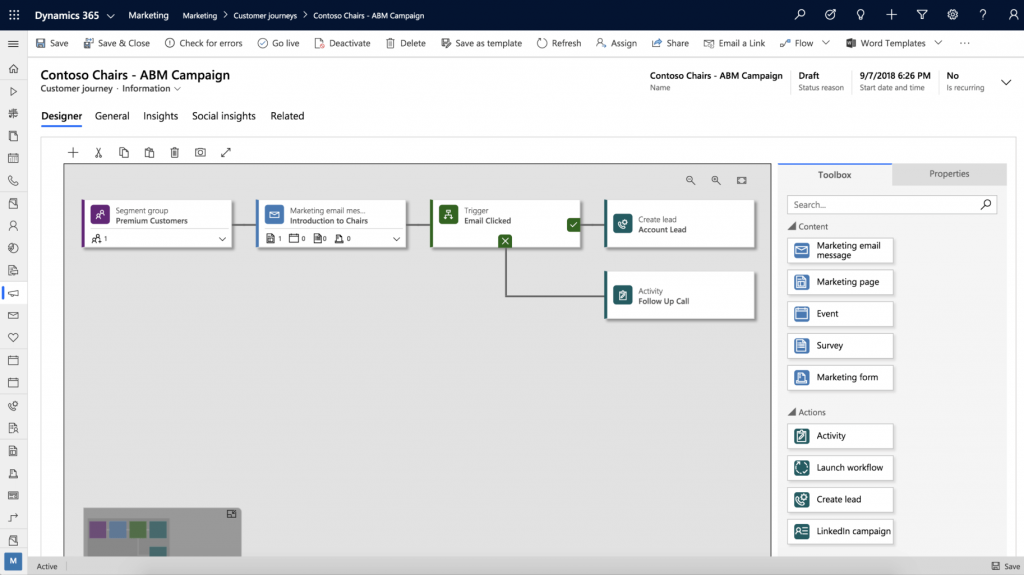 Microsoft is providing marketing automation functionality as part of its Dynamics 365 suite of tools.